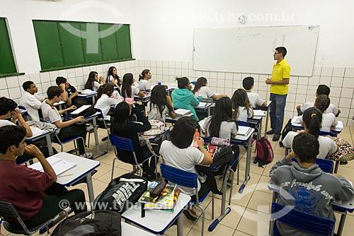 Alunos do Centro de Ensino Médio de Tempo Integral João Henrique de Almeida Souza  - Teresina - Piauí (PI) - Brasil