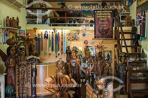 Loja na Central de Artesanato Mestre Dezinho - com santos de madeira inspirados nos do Meste Dezinho  - Teresina - Piauí (PI) - Brasil