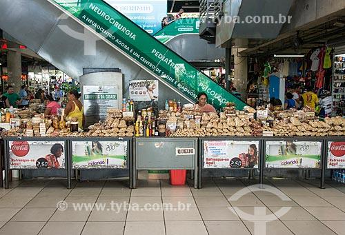 Barraca com grãos e comidas típicas à venda no Shopping da Cidade de Teresina  - Teresina - Piauí (PI) - Brasil
