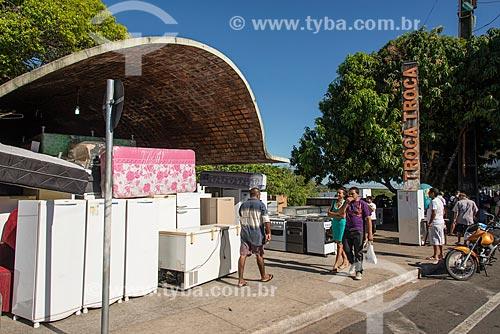 Eletrodomésticos à venda na feira do troca-troca de Teresina  - Teresina - Piauí (PI) - Brasil