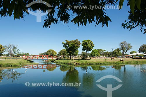 Vista geral do Parque Lagoas do Norte  - Teresina - Piauí (PI) - Brasil