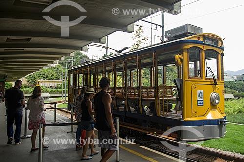 Bonde de Santa Teresa na estação  - Rio de Janeiro - Rio de Janeiro (RJ) - Brasil