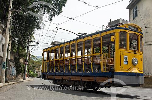 Bonde de Santa Teresa no Morro do Curvelo  - Rio de Janeiro - Rio de Janeiro (RJ) - Brasil