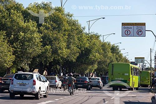 Faixa exclusiva para ônibus na Avenida Frei Serafim  - Teresina - Piauí (PI) - Brasil