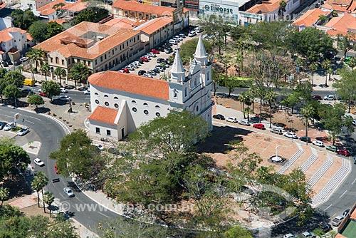 Foto aérea da Igreja de São Benedito (1886)  - Teresina - Piauí (PI) - Brasil
