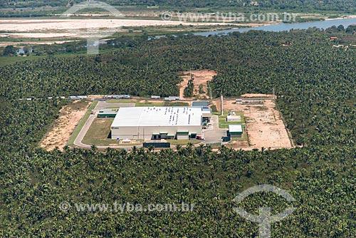 Foto aérea de indústria de latas de alumínio na zona rural de Teresina - com o Rio Parnaíba ao fundo  - Teresina - Piauí (PI) - Brasil
