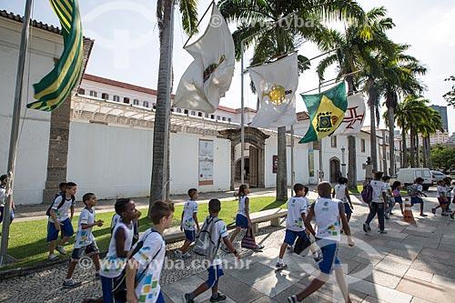 Alunos durante passeio escolar no Museu Histórico Nacional  - Rio de Janeiro - Rio de Janeiro (RJ) - Brasil