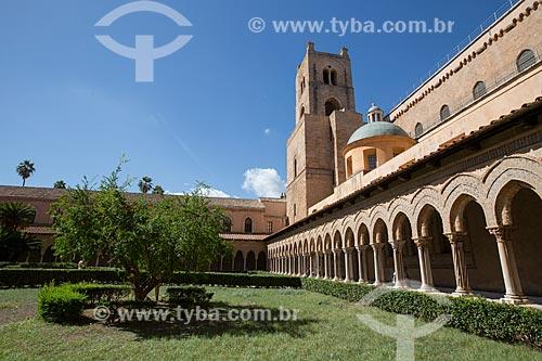 Cláustro da Duomo di Monreale (Catedral de Monreale)  - Monreale - Província de Palermo - Itália