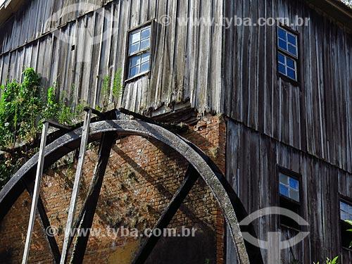Detalhe de roda de água  - Gramado - Rio Grande do Sul (RS) - Brasil