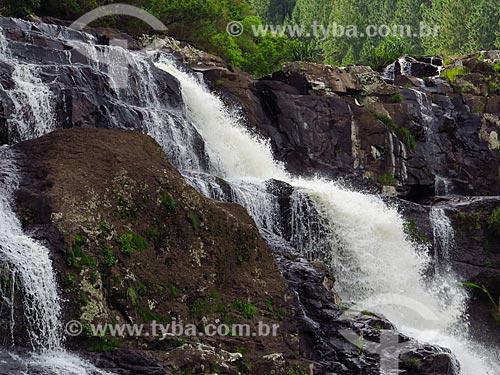 Cachoeira na Reserva Ecológica do Parque da Cachoeira  - Canela - Rio Grande do Sul (RS) - Brasil
