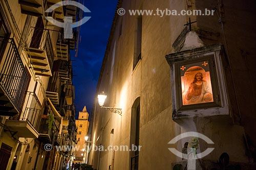 Oratório em rua da cidade de Cefalù  - Cefalù - Província de Palermo - Itália
