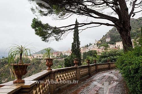 Jardim da Vila Comunale da cidade de Taormina  - Taormina - Província de Messina - Itália