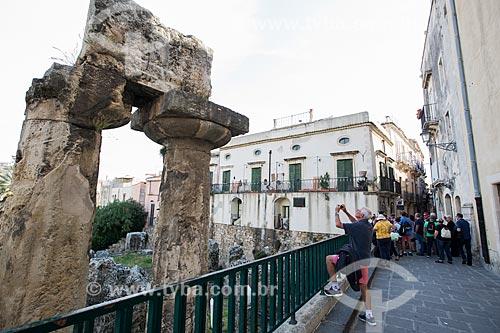 Ruínas do Templo de Apolo (século VI A.C.)  - Siracusa - Província de Siracusa - Itália