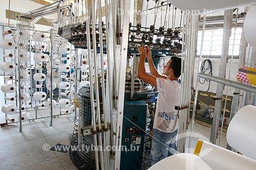 Produção de camisetas em indústria textil  - Santa Cruz do Capibaribe - Pernambuco (PE) - Brasil