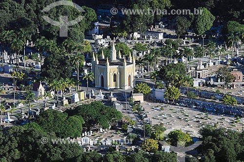 Vista de cima de capela no Cemitério de Santo Amaro  - Recife - Pernambuco (PE) - Brasil