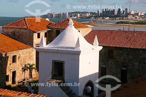 Detalhe da antiga capela - também usada como paiol - no Forte dos Reis Magos (1599)  - Natal - Rio Grande do Norte (RN) - Brasil