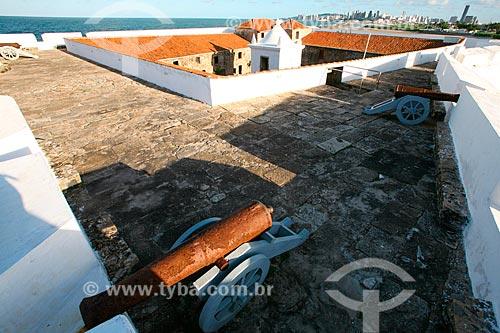 Canhões no Forte dos Reis Magos (1599)  - Natal - Rio Grande do Norte (RN) - Brasil