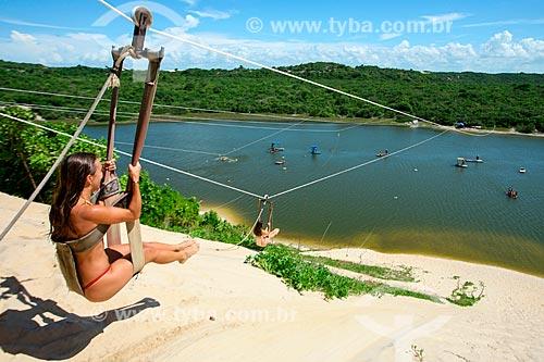 Aerobunda nas dunas da Praia de Jacumã  - Ceará-Mirim - Rio Grande do Norte (RN) - Brasil