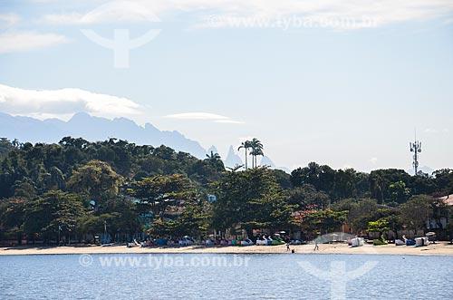 Orla da Ilha de Paquetá com a Pico Dedo de Deus  - Rio de Janeiro - Rio de Janeiro (RJ) - Brasil