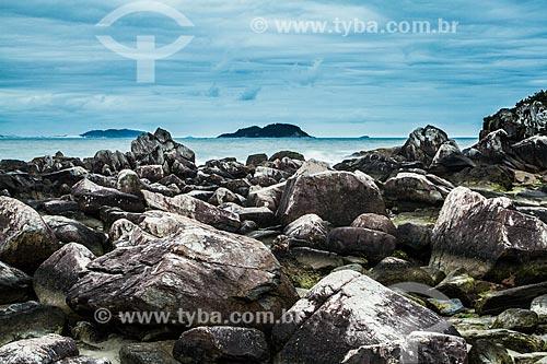 Rochas na orla da Ilha das Campanhas  - Florianopolis - Santa Catarina - Brazil