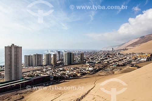 Vista da cidade de Iquique a partir do Cerro Dragón (Dunas Morro do Dragão)  - Iquique - Província de Iquique - Chile
