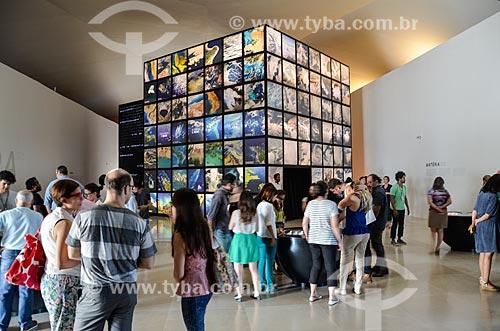 Instalações Matéria, Vida e Pensamento - representando três aspectos essenciais do planeta - no Museu do Amanhã  - Rio de Janeiro - Rio de Janeiro (RJ) - Brasil