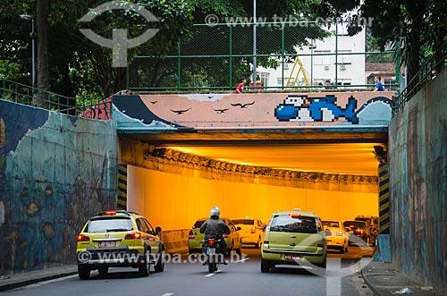 Entrada do Túnel Alaor Prata (1892) - mais conhecido como Túnel Velho - sentido Botafogo  - Rio de Janeiro - Rio de Janeiro (RJ) - Brasil