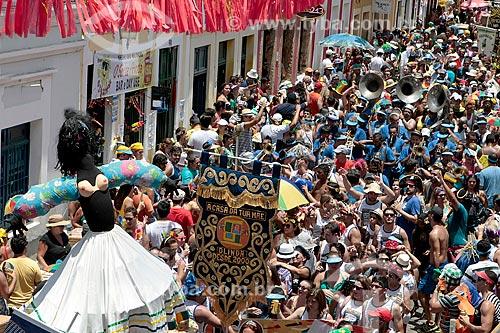 Desfile do Bloco de carnaval de rua A Casa da Tua Mãe durante o carnaval  - Olinda - Pernambuco (PE) - Brasil