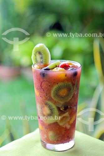 Detalhe da caipirinha de frutas do restaurante Oficina do Sabor  - Olinda - Pernambuco (PE) - Brasil