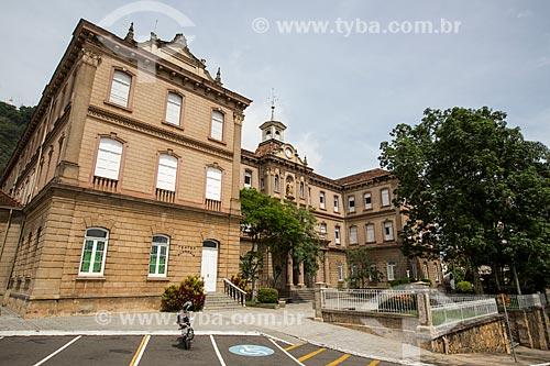 Fachada do Campus Academia do Comércio (1891) - atualmente Colégio Cristo Redentor do Centro de Ensino Superior de Juiz de Fora (CES/JF)  - Juiz de Fora - Minas Gerais (MG) - Brasil