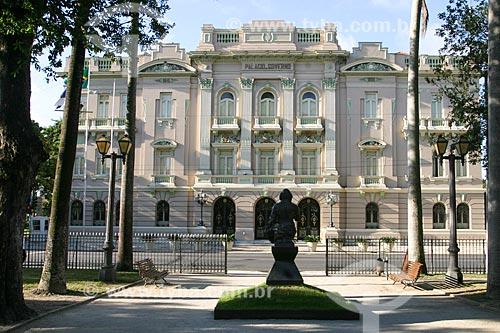 Fachada do Palácio do Campo das Princesas (1841) - sede do Governo do Estado  - Recife - Pernambuco (PE) - Brasil