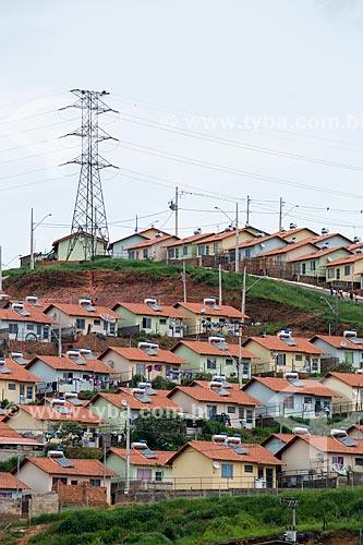 Casas do condomínio residencial Novo Triunfo 2 - Programa Minha Casa Minha Vida - com Painel solar fotovoltaico  - Juiz de Fora - Minas Gerais (MG) - Brasil