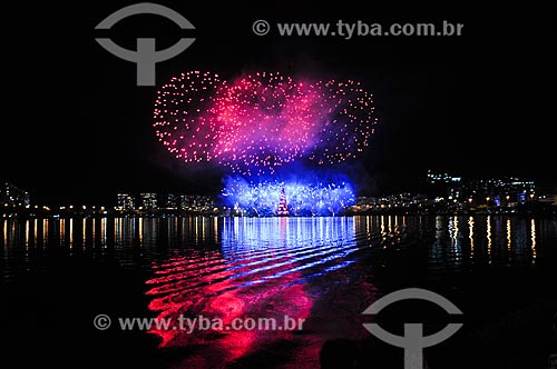 Inauguração da Árvore de Natal da Lagoa Rodrigo de Freitas  - Rio de Janeiro - Rio de Janeiro (RJ) - Brasil