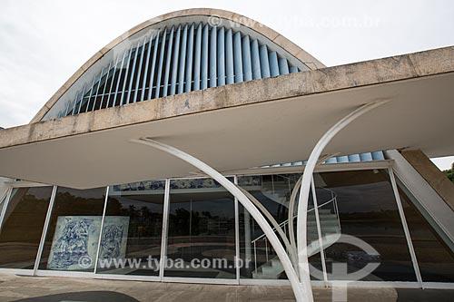 Fachada da Igreja São Francisco de Assis (1943) - também conhecida como Igreja da Pampulha  - Belo Horizonte - Minas Gerais (MG) - Brasil