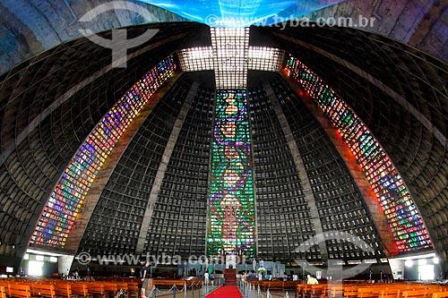 Interior da Catedral de São Sebastião do Rio de Janeiro (1979)  - Rio de Janeiro - Rio de Janeiro (RJ) - Brasil