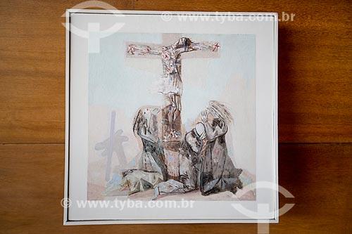 12ª Estação da Via-crúcis: Jesus morre na cruz - por Cândido Portinari na Igreja São Francisco de Assis (1943) - também conhecida como Igreja da Pampulha  - Belo Horizonte - Minas Gerais (MG) - Brasil