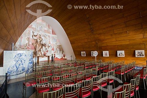 Interior da Igreja São Francisco de Assis (1943) - também conhecida como Igreja da Pampulha  - Belo Horizonte - Minas Gerais (MG) - Brasil