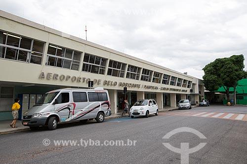 Fachada do Aeroporto de Belo Horizonte/Pampulha - Carlos Drummond de Andrade (1933) - também conhecido como Aeroporto da Pampulha  - Belo Horizonte - Minas Gerais (MG) - Brasil