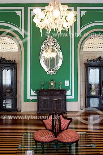 Interior do Museu de Arte de Belém (MABE) - Palácio Antônio Lemos - também sede da Prefeitura da cidade de Belém  - Belém - Pará (PA) - Brasil