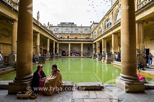 Termas romanas na cidade de Bath  - Bath - Condado de Somerset - Inglaterra