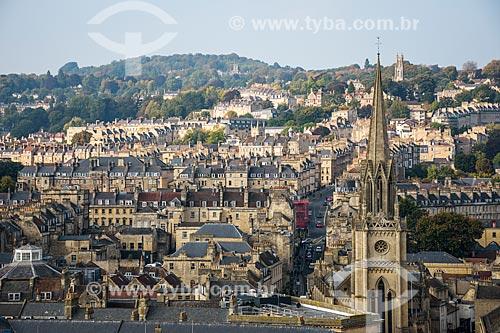 Vista geral da cidade de Bath com a Abadia de Bath (século XVI)  - Bath - Condado de Somerset - Inglaterra