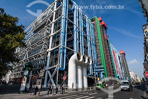 Museu de Arte Moderna de Paris (1977) - localizado no Centro Nacional de Arte e Cultura Georges Pompidou  - Paris - Paris - França