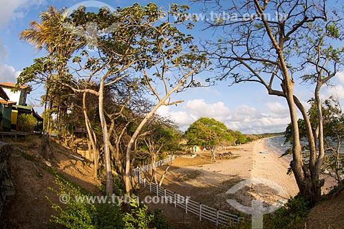 Vista da orla da Praia de Joanes a partir da Pousada Ventania  - Salvaterra - Pará (PA) - Brasil