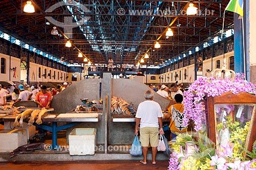 Interior do Mercado Ver-o-peso (Século XVII)  - Belém - Pará (PA) - Brasil