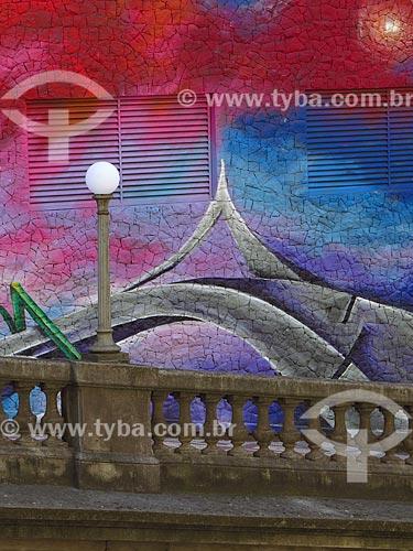 Grafite próximo ao Viaduto Otávio Rocha (1932) sobre a Avenida Borges de Medeiros  - Porto Alegre - Rio Grande do Sul (RS) - Brasil