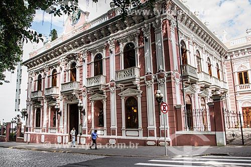 Fachada do Palácio Cruz e Sousa - antiga sede do Governo do Estado, atual Museu Histórico de Santa Catarina  - Florianópolis - Santa Catarina (SC) - Brasil