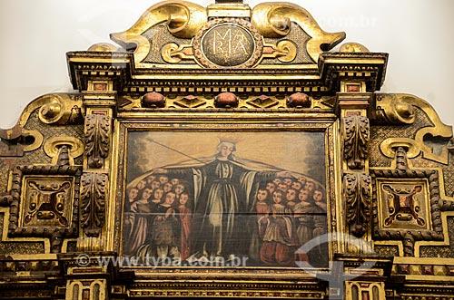 Retábulo de Nossa Senhora Mãe dos Homens (Século XVII) da antiga Igreja de Santo Inácio do Colégio dos Jesuítas do Morro do Castelo - Igreja de Nossa Senhora do Bonsucesso (1780)  - Rio de Janeiro - Rio de Janeiro (RJ) - Brasil
