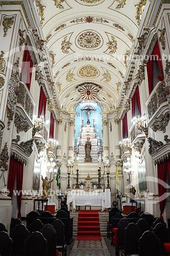 Interior da Igreja de Santa Luzia (Século XVIII)  - Rio de Janeiro - Rio de Janeiro (RJ) - Brasil
