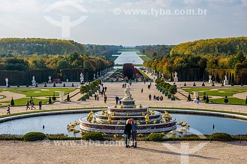 Jardim renascentista do Château de Versailles (Palácio de Versalhes) - residência oficial da monarquia da Francesa entre os anos de 1682 a 1789  - Versalhes - Yvelines - França