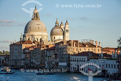 Vista da Basilica di Santa Maria della Salute (Basílica de Santa Maria da Saúde) - 1681 - a partir do Grande Canal de Veneza  - Veneza - Província de Veneza - Itália